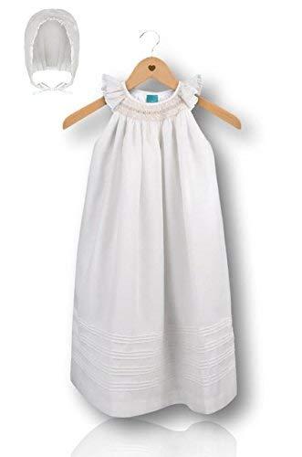 12 Months Suma Christening Gown Baby Girl Ivory Cotton Dedication Baptism Dress 3 6