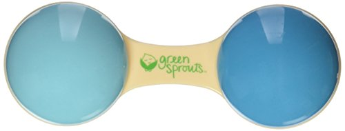 Green Sprouts Cornstarch Dumbbell Rattle made from Plants