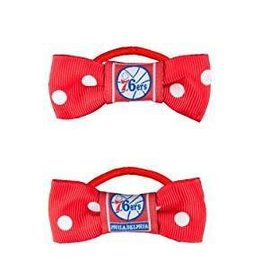 NBA Philadelphia 76ers Bow Pigtail Holder