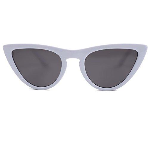 Marco T Sunglasses Solretro Show Mujer De Gafas para Turismo Shopping para Gafas Limotai C3 Blue Conducción Mujer Cat Gafas gris Eyes Fiesta blanco Lens C8 BYPq4nw