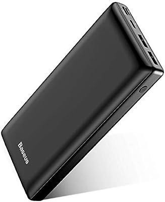 Baseus Batería Externa 30000mAh,Power Bank Bateria Portatil Movil USB C Carga rapida para iPhone 11 Pro MAX, iPad, Mac, Samsung, Huawei, Xiaomi, Nintendo Switch Nergo: Amazon.es: Electrónica
