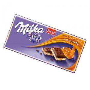 Milka Milk Chocolate with Caramel Filling 100 g
