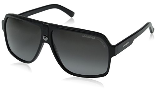 Carrera 33/S Aviator Sunglasses,Black Frame/Grey Gradient Lens,one size