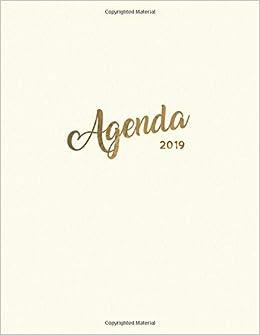 Agenda 2019: Semanal Diario Organizador Calendario | Crema ...