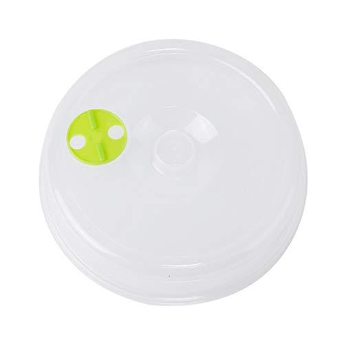 (Feccile 5Pcs/Set Universal Pie Keeper Plastic Round Safe Clear Fresh-keeping Cover Kitchen Food Cases Wrap Bowl Pot Lid Fresh Lid Crisper Microwave Cap Dessert Food Storage Container Storage Cover)