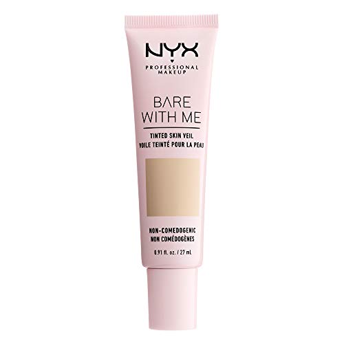 (NYX PROFESSIONAL MAKEUP Bare With Me Tinted Skin Veil, Vanilla Nude, 0.9 Fluid)