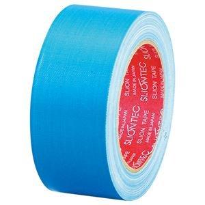 生活日用品 (まとめ買い) 布粘着テープ No.3390 50mm×25m ライトブルー No.3390-50LB 1巻 【×10セット】 B074JQPBBM