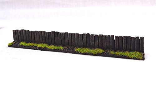 (wws Wooden Fence Section by Pack of 3 - Dioramas, Layouts, Terrain)