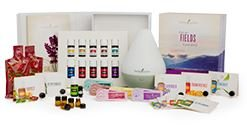 Young Living Premium Starter kit with Dewdrop Home Rainstone Aria Diffuser Essential Oils Collection NingXia Red 11 5ml Oils (Dewdrop Diffuser) by Young Living