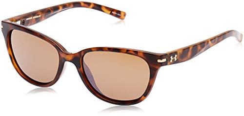 Under Armour Women's Perfect Sunglasses, Brown / Brown Lens, 53 mm