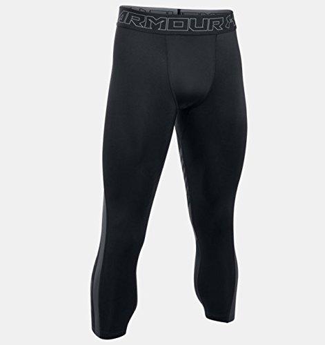 Under Armour Men's HeatGear SuperVent Compression ¾ Leggings, Black /Graphite, Small