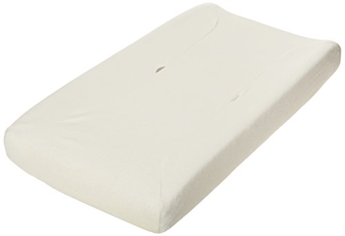 TL Care Velour Fitted Contoured Changing Pad Cover made with Organic Cotton, Natural (Tl Care Organic Cotton)