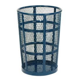 - Witt Industries EXP-52BL Steel 48-Gallon Outdoor Waste Receptacle, Round, 23
