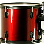 Drum-Set-Wine-Red-5-Piece-Complete-Full-Size-with-Cymbals-Stands-Stool-Sticks