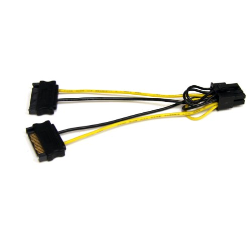 StarTech.com SATPCIEX8ADP 6-Inch SATA Power to 8 Pin PCI Express Video Card Power Cable Adapter (Power Video Card)