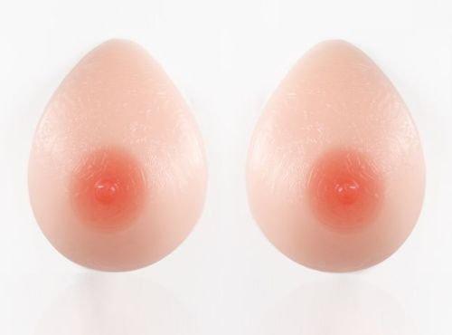 Narrow Silicone Breast Forms Crossdresser Mastectomy 52DD/54D/48E 1 PAIR