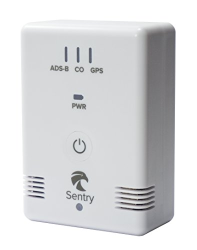 (Sentry ADS-B Receiver for Weather and Traffic in ForeFlight with CO Monitor and 12hr Battery)