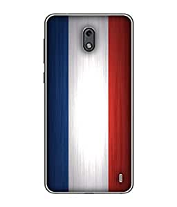ColorKing Football France 08 Multi Color shell case cover for nokia 2