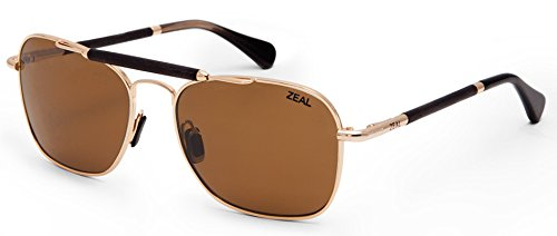 olarized Sunglasses - Polished Gold Frame with Copper Lens ()