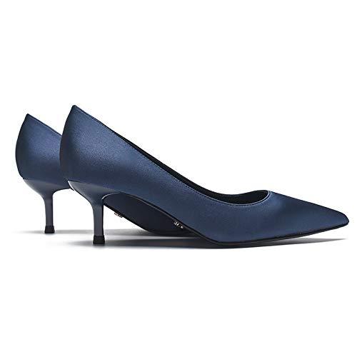 Da Blue Donna Con Alti Da Tacchi Yukun Blu Tacchi alti Cinque Stiletto Centesimi Punte wYSOq