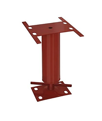 Akron Products P M/H203 3'' Adjustable Steel Columns, Monopost, 6'9''- 7'1'', 11 Gauge, 81'' Length, 81'' Height, Red
