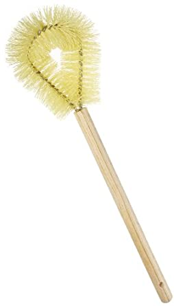 rubbermaid commercial fg630100yel toilet bowl brush with hardwood handle