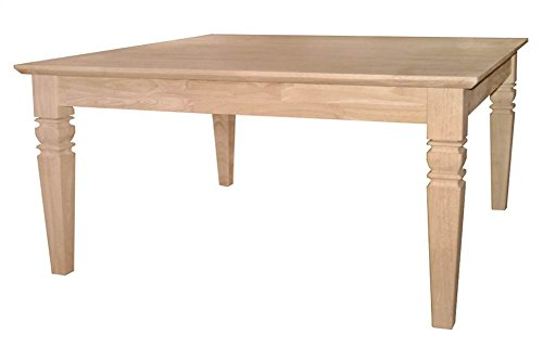 International Concepts OT-60SC Java Square Coffee Table - Unfinished Table Oval