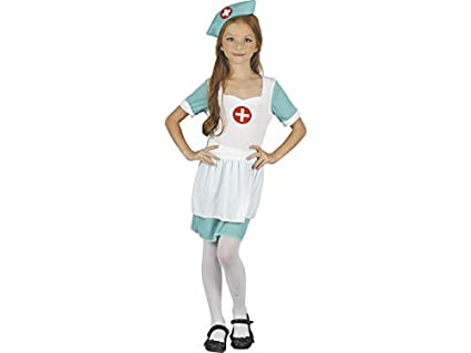 DISONIL Disfraz Enfermera Niña Talla S: Amazon.es: Juguetes ...