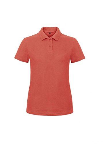 B&C Damen Ladies` Piqué Polo Shirt ID.001 /women Pixel Coral XS