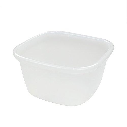 (Lesbin 1-Pack Clear Large Dish Pan, Dish Wash Basin, 18 Quart)