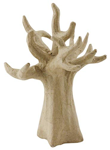 Decopatch Small Mache Jewel Holder or Decorating Tree Brown ()