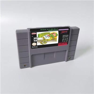Game card - Game Cartridge 16 Bit SNES , Game Boogerman A Pick and Flick Adventure - Action Game Card US Version English Language