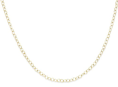 15 Inch Cable Chain (ICE CARATS 14k Yellow Gold Link Cable Chain Necklace 15 Inch Fine Jewelry Gift Set For Women Heart)