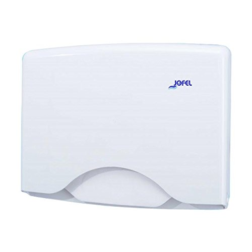 Jofel AM21000 Cubreasientos dispenser di carta igienica, ABS, per 125 fogli, bianco per 125fogli