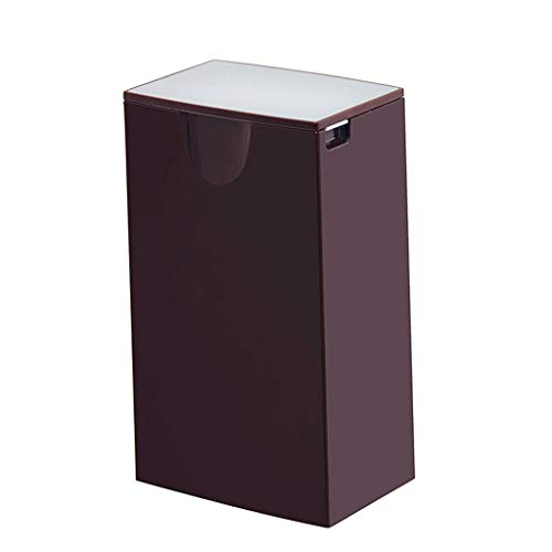 Lei Mini (Trash Can Manual Lift Trash Bin, Plastic Desktop, Creative Fashion Small, Garbage Can for Car Kitchen Desk (Color : Purple))