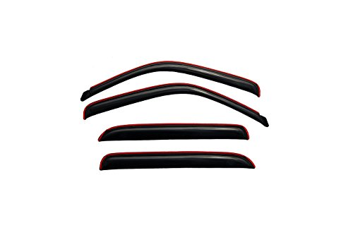 (Auto Ventshade 194355 In-Channel Ventvisor Side Window Deflector, 4-Piece Set for most 2001-2006 GM Full Size Crew Cab Trucks and SUV's - Consult application guide to verify fitment | Also fits 2007 HD Classic Crew Cab Models)