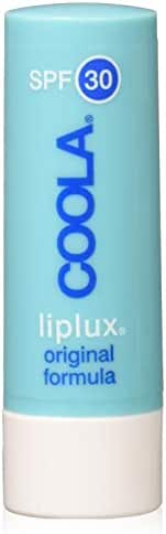 COOLA Organic Liplux Sport Original Formula Lip Balm Sunscreen | Broad Spectrum SPF 30 | Certified Organic Ingredients | Farm to Face | Non-GMO | Antioxidant Powered Natural Fruit Butters