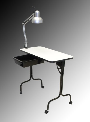 PIBBS Manicure Table Fold Legs with Lamp (Model: 974) by Pibbs (Image #1)
