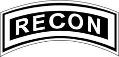 Military, Us Army Recon Tab, Vinyl Car Decal, 'Black', '5-by-5 inches'