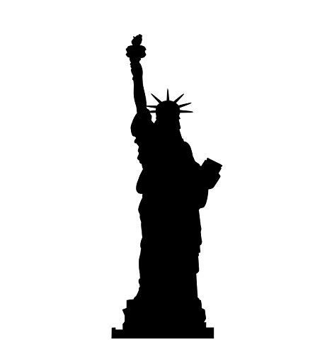 Liberty Cardboard - Advanced Graphics Statue of Liberty Silhouette Life Size Cardboard Cutout Standup