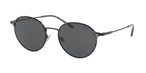 Polo Ralph Lauren PH3109 926787 Black PH3109 Round Sunglasses Lens Category 3 - Ralph Sunglasses Lauren 3
