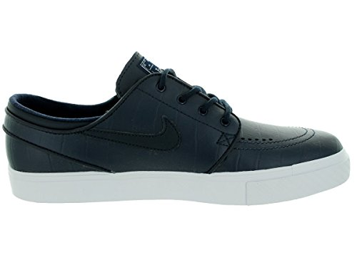 NIKE Mens Zoom Stefan Janoski L QS Leather Athletic Sneakers Drk Obsdn/Drk Obsdn/White/Crys Upc72