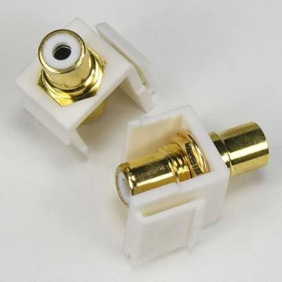 Rca F/f Keystone Module - InstallerParts RCA White F/F Keystone Module White