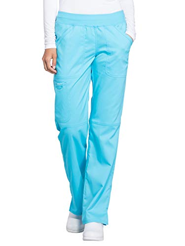 Cherokee WW Revolution WW110 Mid Rise Pull-On Cargo Pant Turquoise L