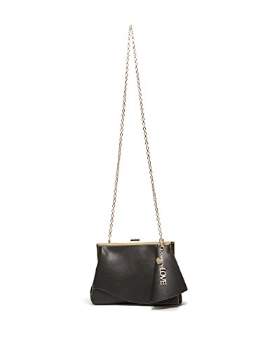 GUESS Factory Women's Lanna Ruffle Faux-Leather Chain Strap Clutch by GUESS Factory