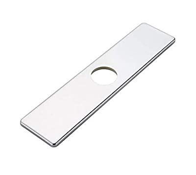 Homevacious 10 Inch Kitchen Or Bathroom Sink Faucet Base plate Hole Cover Deck Plate Escutcheon Chrome Square 304 Stainless Steel
