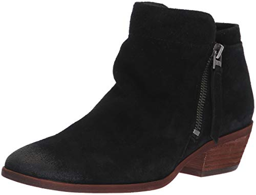 Sam Edelman Women's Packer Ankle Boot, Black Suede, 9.5 M US