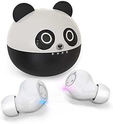 Kids Wireless Earbuds XZC Cute Panda Cartoon Design in-Ear HiFi Stereo TWS Wireless Ear Buds for Kids Adult Gift 36H Playtime Bluetooth 5.0 Headphones with Dual Micphone for Workout Sport