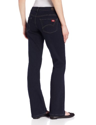 Dickies Women's Relaxed Boot Cut Jean, Dark Stonewash, 10 Regular
