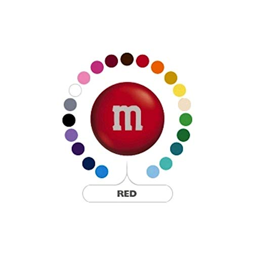 M&M's Red Milk Chocolate Candy 1LB Bag]()